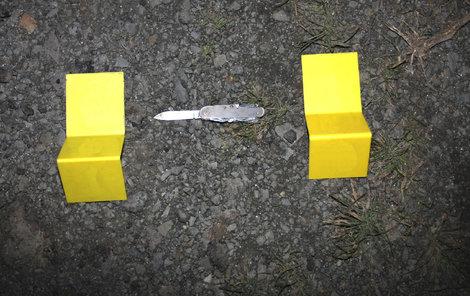 Nůž, který při loupežích používali.