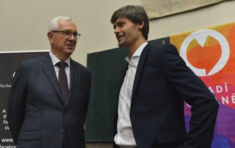 Jiří Ruml neuspěl... stejně tak Drahoš (vlevo) a Hilšer.