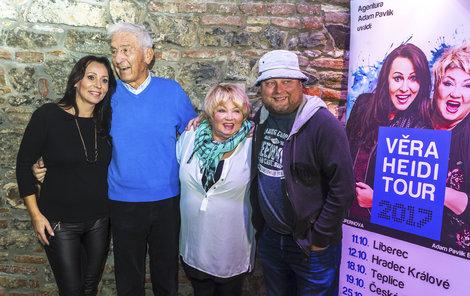 Heidi Janků s rodinou