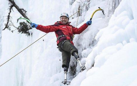 Čínský horolezec Sia Po-jü (69)