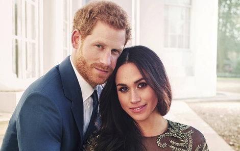 Zásnubní portrét prince Harryho a jeho budoucí ženy Meghan.