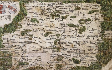 Mapa byla vytištěna a až dodatečně kolorována.