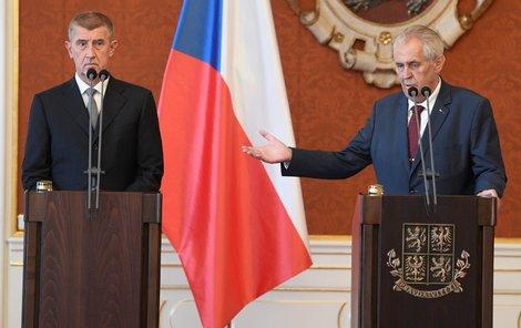 Zeman jmenoval Babiše podruhé premiérem (6. 6. 2018)