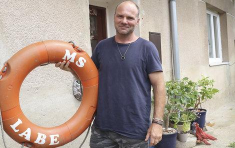 Radovan Stránský byl ve vodě asi 25 minut. I jemu hrozilo velké nebezpečí.