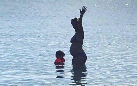 Monika s rodinou na dovolené v Chorvatsku
