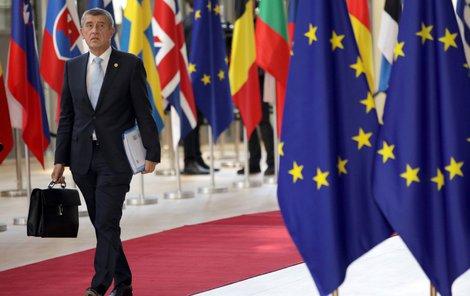 Premiér Andrej Babiš (ANO) na summitu EU v Bruselu (28.6.2018)