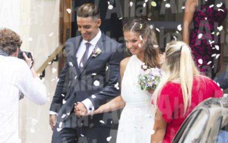 Michal Hrdlička (29) a Karolína Plíšková (26) si před zraky  nejbližších řekli v Monaku v luxusním prostředí místní radnice ANO.