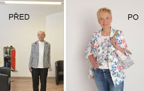 Paní Lenka před a po proměně