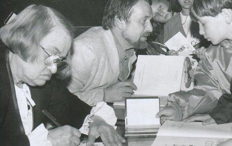 Helena Zmatlíková na autogramiádě