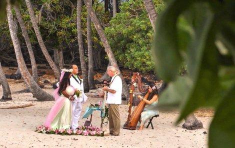 Martina Big se vdávala na Havaji.