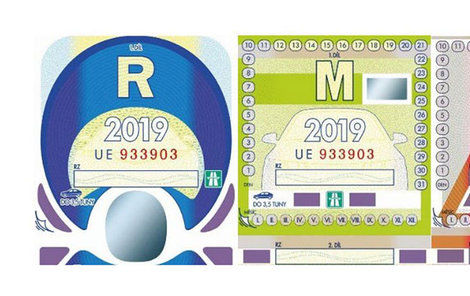 Dálniční známky 2019