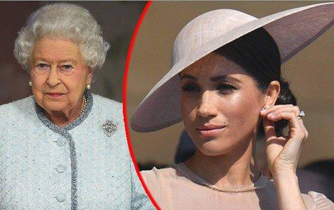 Urovná Alžběta II. rozbroje kolem Meghan v královské rodině?