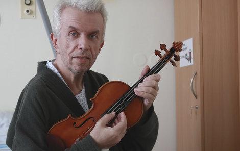 Jaroslav Svěcený v nemocnici