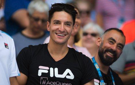 Michal Hrdlička a jeho blažený úsměv po postupu Karolíny Plíškové do semifinále Australian Open