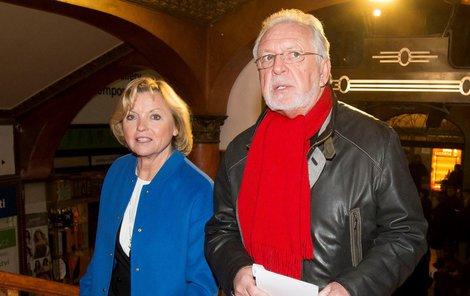 Jaromír Hanzlík se současnou partnerkou Lenkou Kozlovou.