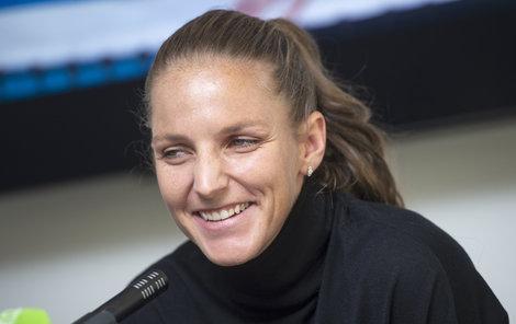 Usměvavá Karolína Plíšková