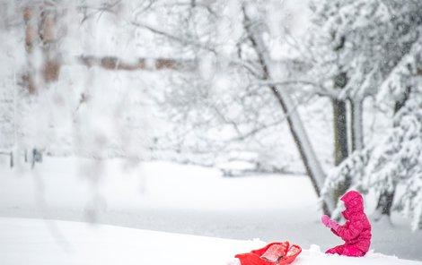 Sníh v Praze. (3.2.2019)