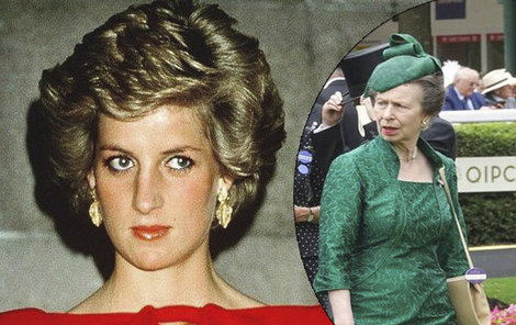 Princezna Diana a princezna Anna se nemohly vystát.