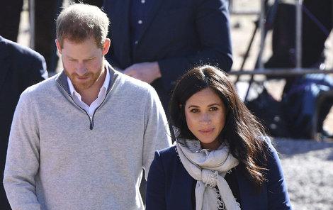 Vévodkyně Meghan s princem Harrym v Maroku.