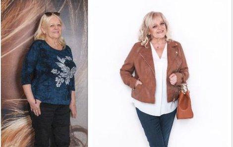 Paní Ivana před a po proměně