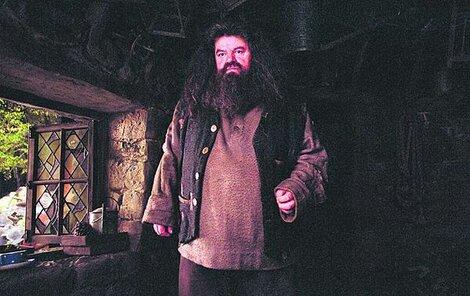 Robbie Coltrane jako  Hagrid z filmů  o Harrym Potterovi
