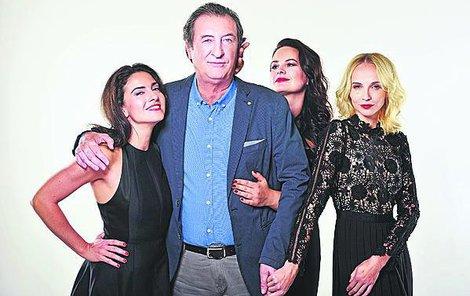 Bolkovi krásné ženy sluší, byť jsou to podlé vražedkyně… Zleva Lucia Siposová, Jitka Čvančarová a Jana Plodková. Režisér to namíchal dokonale!
