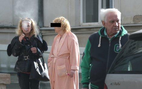 Hana Krampolová bezprostředně po propuštění z nemocnice.