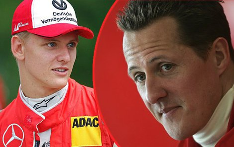 Syn Schumachera valí ve ferrari.