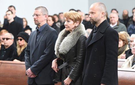 Daniela Kolářová - na pohřbu