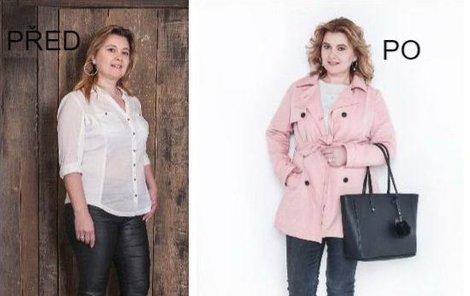 Paní Andrea před a po proměně