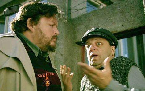 Radomil Uhlíř a Milan Šteidler ve filmu Skřítek.