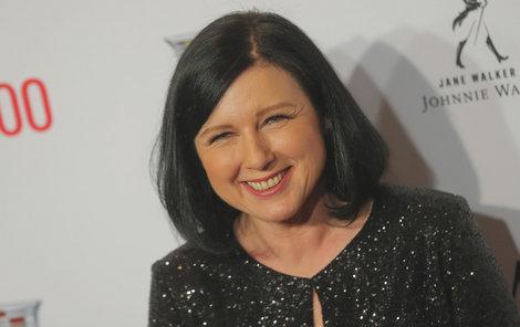Eurokomisařka Věra Jourová na galavečeru amerického časopisu Time věnovanému 100 osobnostem roku 2019.