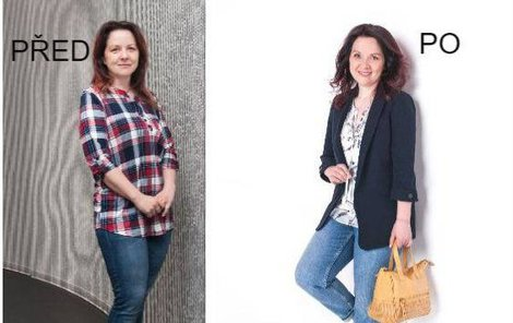 Paní Štěpánka před a po proměně