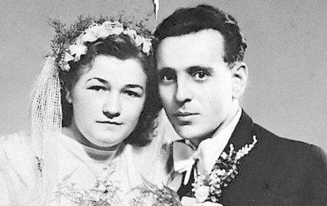 Paní Marie s manželem na fotografii z roku 1946.