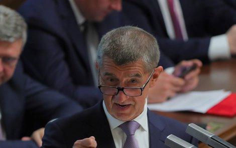 Premiér Andrej Babiš při jednání Poslanecké sněmovny. (4.6.2019)
