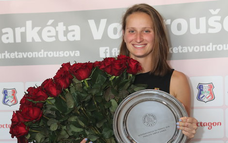 Markéta Vondroušová po finále French Open