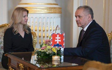 Končící prezident Kiska po zvolení prezidentkou Čaputové blahopřál.