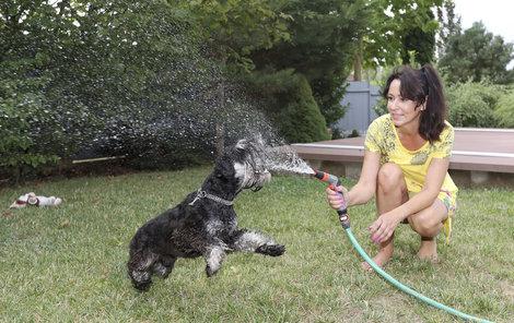 Heidi Janků a její pes Eda