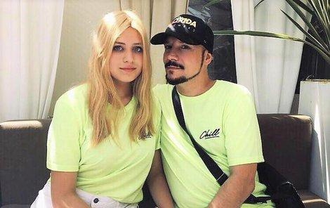 Bohuš Matuš s Lucinkou na dovolené