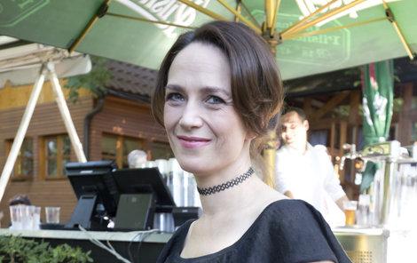 Tereza Kostková na tiskovce TV Prima