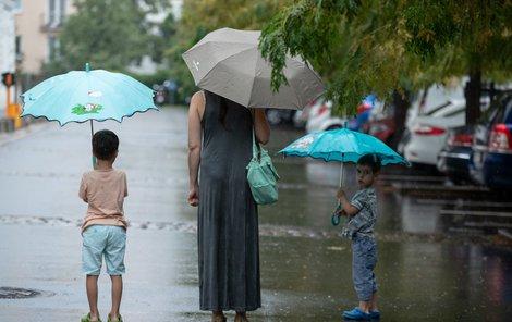 Deštivé počasí v Česku