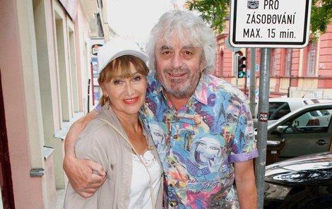 Petra Černocká s manželem Jiřím Pracným