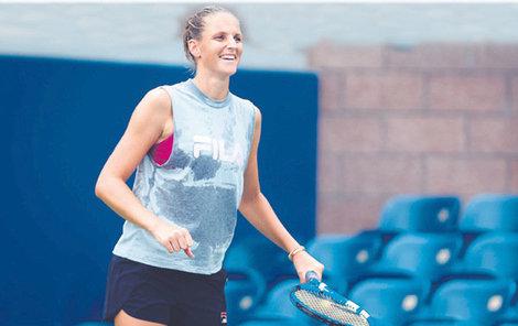 Karolína Plíšková je před US Open v dobré náladě. Pomohla tomu určitě i trochu volnější morálka.