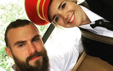 S Lucií na natáčení jejího videoklipu