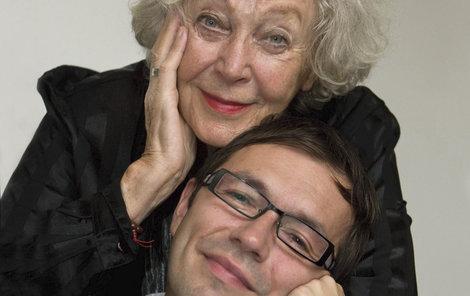 S Květou Fialovou, kterou navštěvoval do jejích posledních chvil.