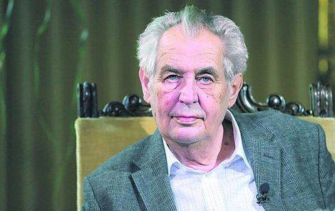 Miloš Zeman v Lánech.