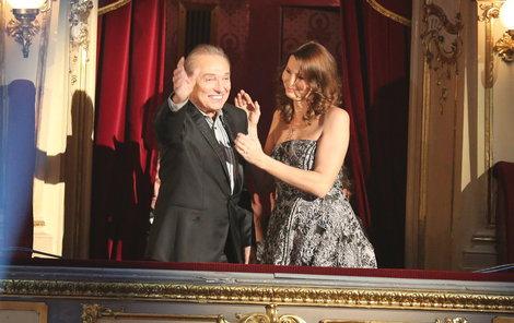 Karel Gott s manželkou - Zlatý slavík 2015