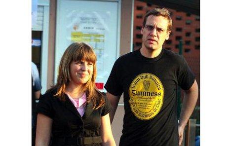 Herec David Matásek přišel na koncert jako doprovod své dcery.