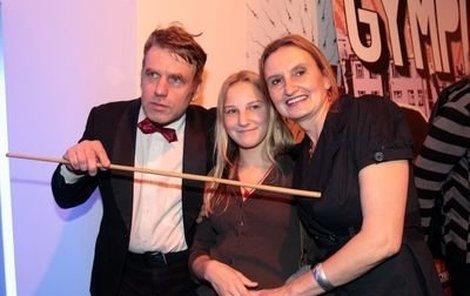 Tomáš Vorel ukazuje na přednosti herečky Evy Holubové, která Gympl natáčela i se svou dcerou Karolínou.