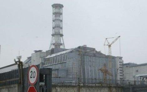 Torzo jaderné elektrárny v Černobylu.